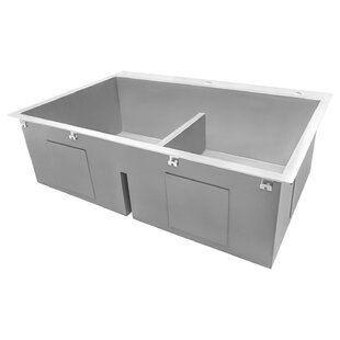 Review Tirana Low-Divide 33 x 10 Double Basin Drop-In Kitchen Sink by Ruvati
