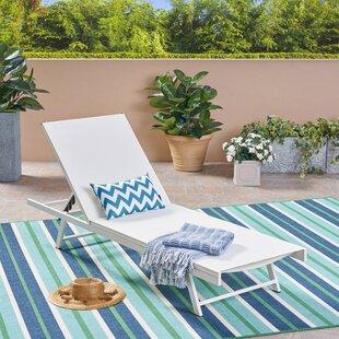 Orren Ellis Emrich Outdoor Reclining Chaise Lounge