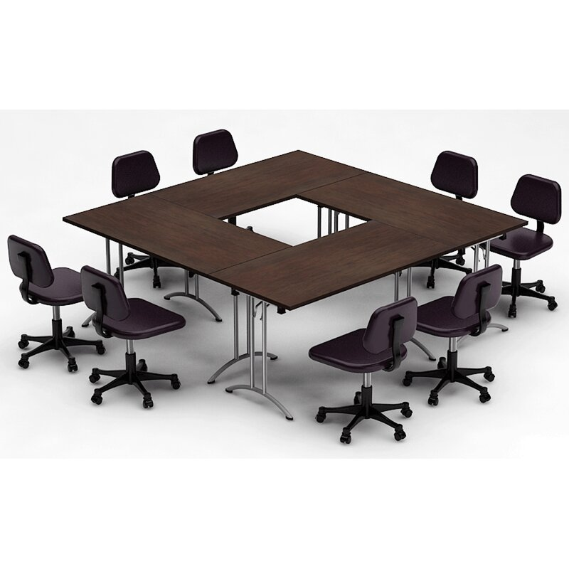 Team Tables Meeting Seminar Piece Square H X W X L - Square conference room table