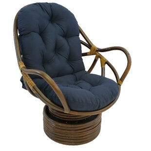Jimena Swivel Papasan Chair by Beachcrest Home #1