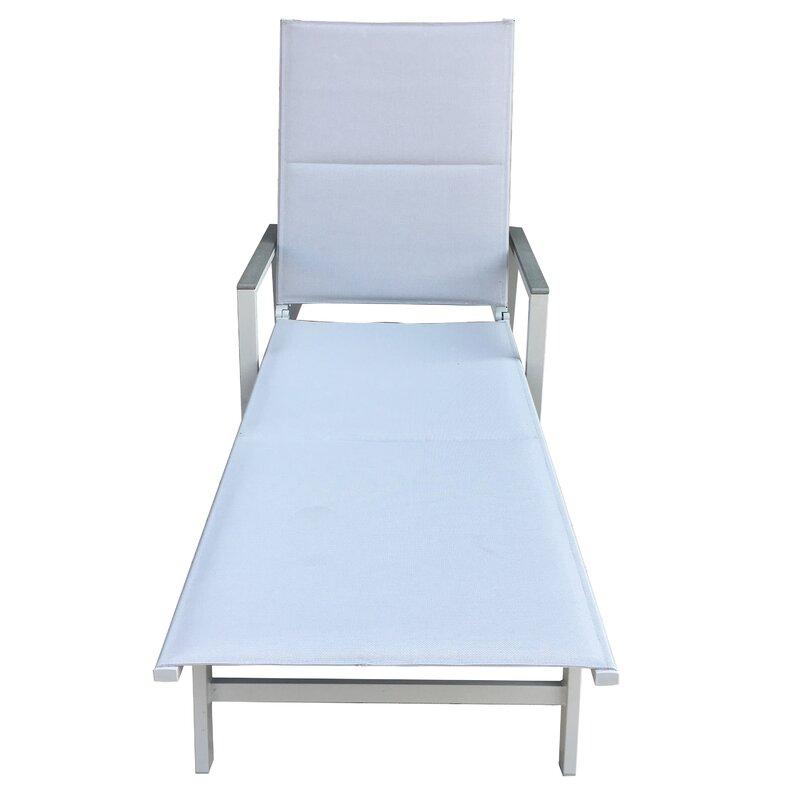 Pleasant Peterkin Sling Patio Reclining Chaise Lounge Evergreenethics Interior Chair Design Evergreenethicsorg