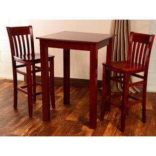 Vivas 3 Piece Pub Table Set Red Barrel Studio
