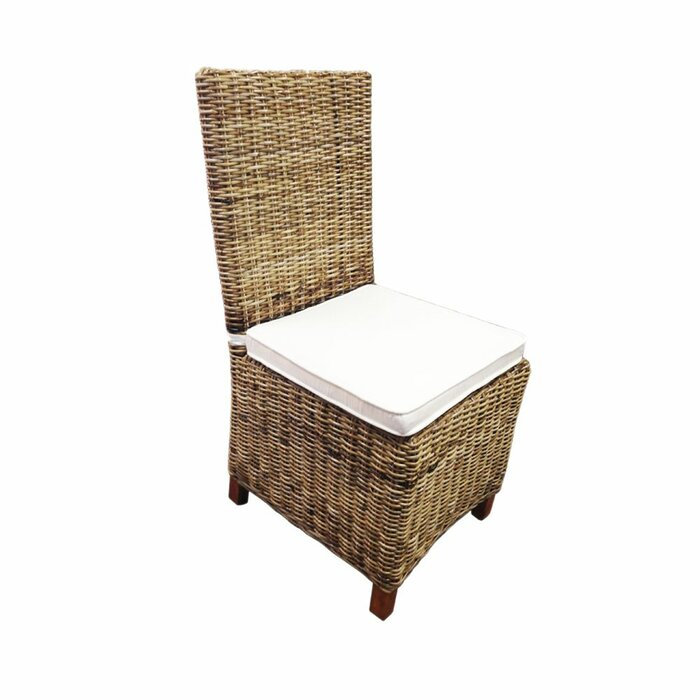 Aiden Rattan Wicker Patio Dining Chair With Cushion