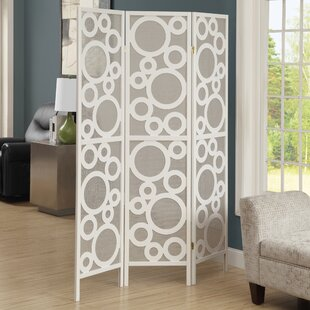 Latitude Run Isbell Bubble Design 3 Panel Room Divider