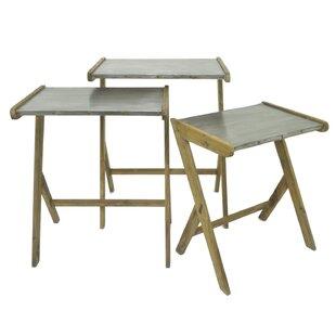 Petoskey Wood/Metal 3 Piece Nesting Tables by Gracie Oaks