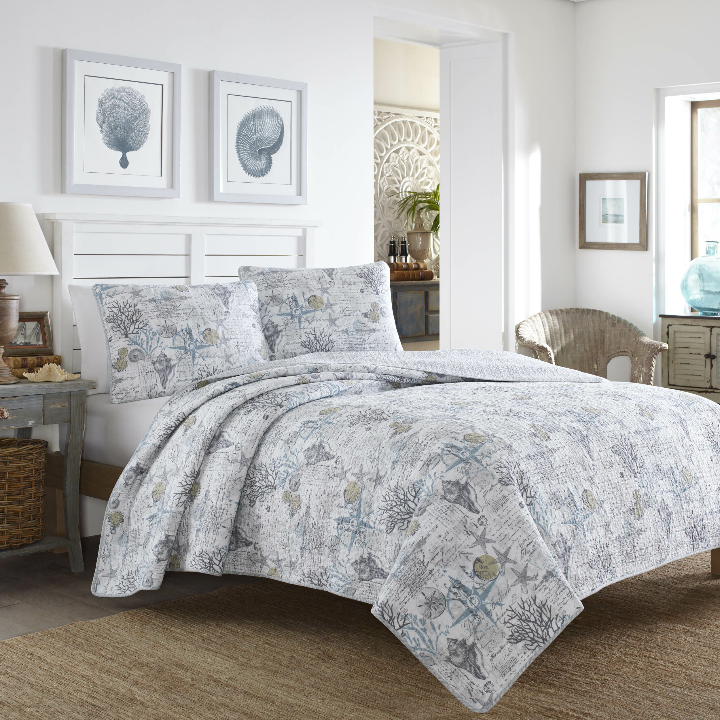 Tommy Bahama Home Beach Bliss 3 Piece Reversible Quilt Set Tommy Bahama  Bedding U0026 Reviews | Wayfair