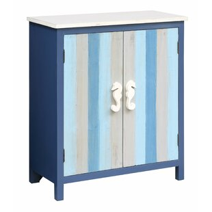 Harriss Nautical Striped 2 Door Accent Cabinet by Highland Dunes