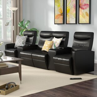 Skiba 4 Seat Home Theater Recliner by Red Barrel Studio