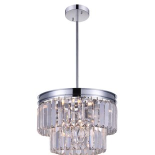 Weiss 5-Light Crystal Pendant by CWI Lighting