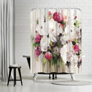 East Urban Home PI Creative Art Bouquet Of Pink Flowers Shower Curtain