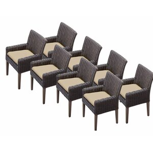 Venice Patio Dining Chair with Cushion (Set of 8)
