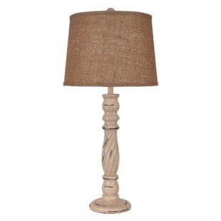 Ivery Swirl Candlestick 32 Table Lamp