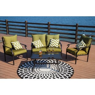 Gustavson 4 Piece Sofa Seating Group with Cushions