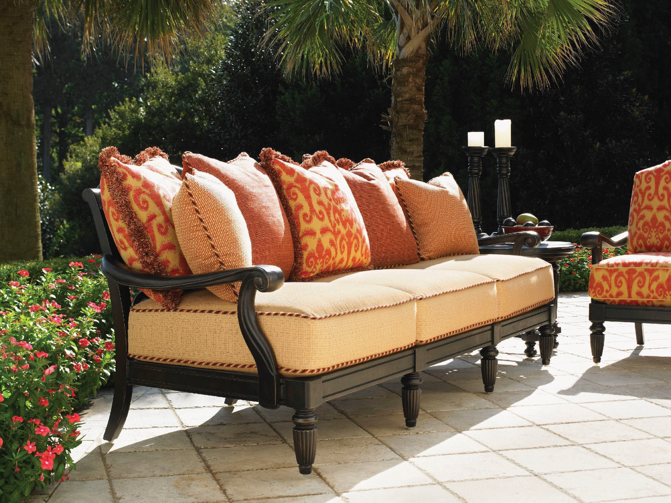 Tommy Bahama Outdoor Kingstown Sedona Patio Sofa With Cushions Wayfair