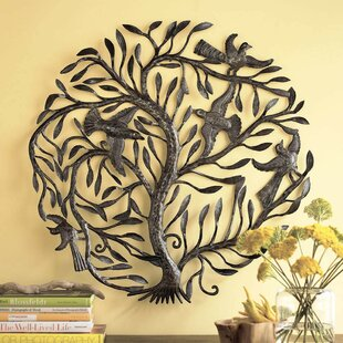 Recycled Metal Tree Of Life Wall Décor