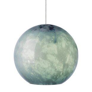 Polston 1-Light Globe Pendant by Bungalow Rose