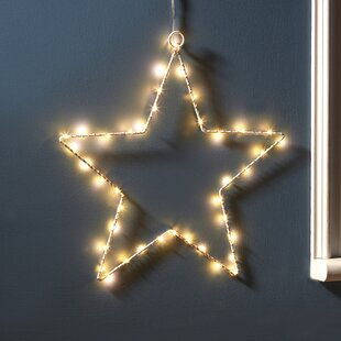 Review 40 White LED Lighted Window Décor