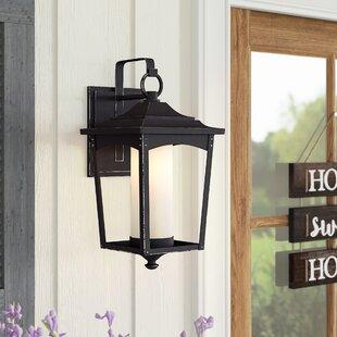 Laurel Foundry Modern Farmhouse Mason 1-Light Metal Outdoor Wall Lantern