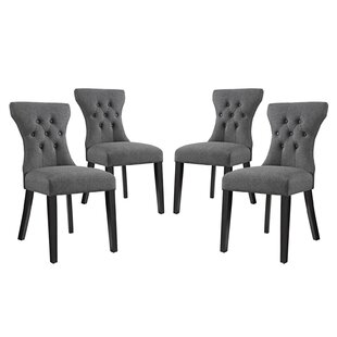 Brightling Upholstered Dining Chair (Set of 4) House of Hampton