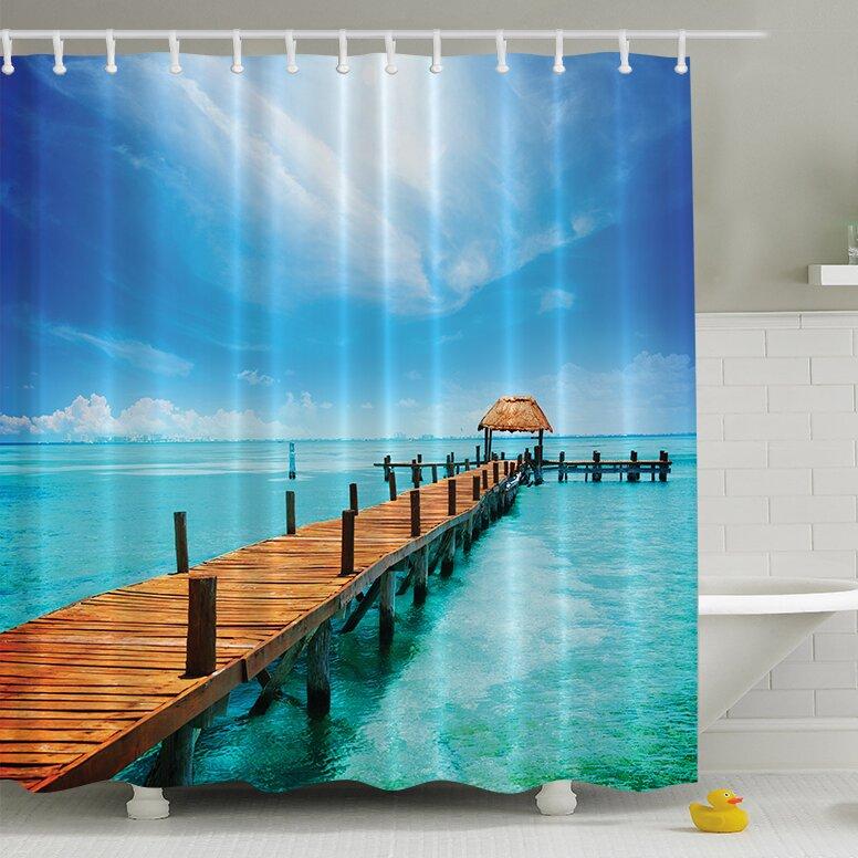 Ambesonne Across The Ocean Print Shower Curtain