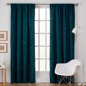 Nice Crosshatch Solid Semi Sheer Rod Pocket Curtain Panels (Set Of 2)