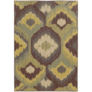 Tommy Bahama Cabana Brown / Blue Abstract Indoor/Outdoor Area Rug