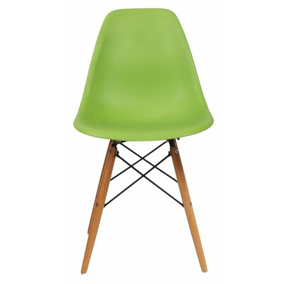 AdecoTrading Patio Dining Chair Finish: Green