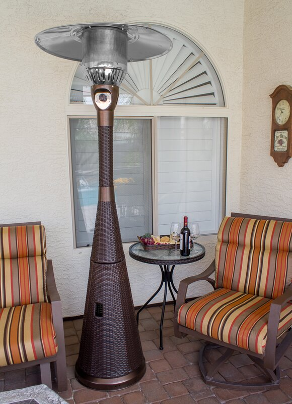 Complete Wicker 41,000 BTU Propane Patio Heater