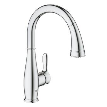 Grohe Minta Pull Out Single Handle Kitchen Faucet Reviews Wayfair