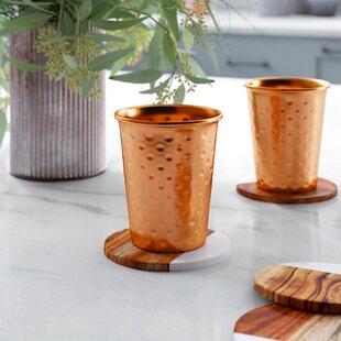 Benigna 16 oz. Copper Every Day Glass (Set of 2)