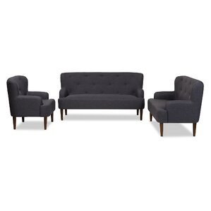 Aria 3 Piece Living Room Set by Wholesale Interiors