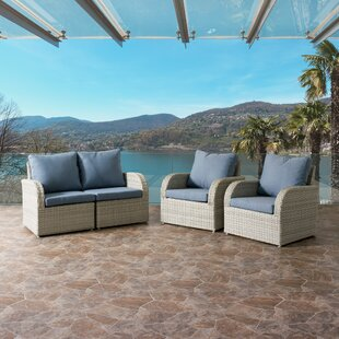 Rosecliff Heights Killingworth 4 Piece Sofa Set with Cushions