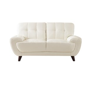 Sterns Craft Leather Loveseat by Brayden Studio
