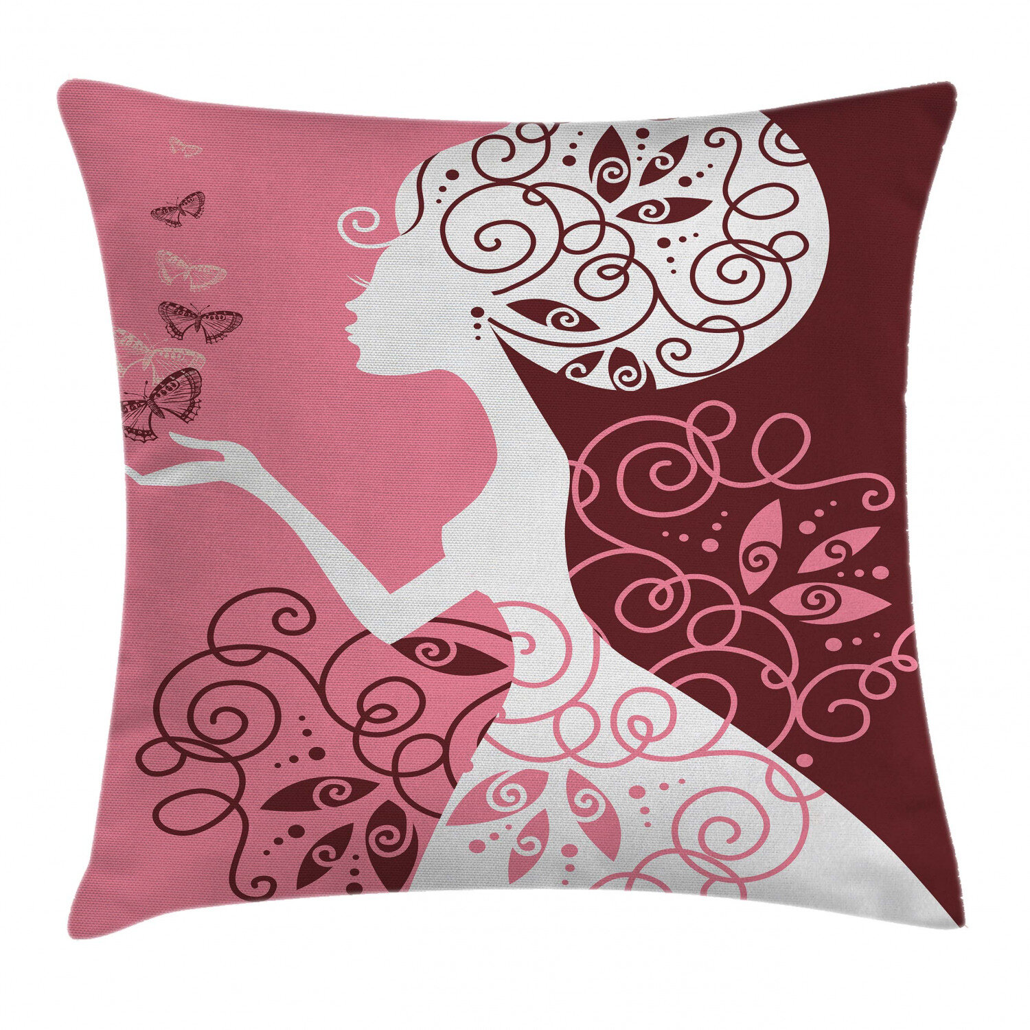Home Decor Kids Decorative Pillow Covers For Girls Lil Sis Floral Throw Cushion Case Credify One