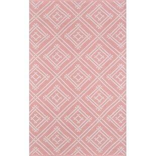 Moralez Handwoven Flatweave Pink Indoor/Outdoor Area Rug