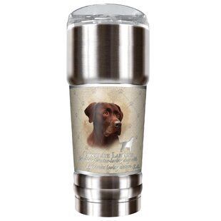 Howard Robinson's Chocolate Lab 32 oz. Stainless Steel Travel Tumbler