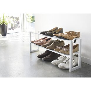 Yamazaki Home Line Adjustable 2 Tier 8 Pair Shoe Rack