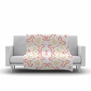 Alison Coxon Aztec Feather Coral Fleece Blanket ByEast Urban Home