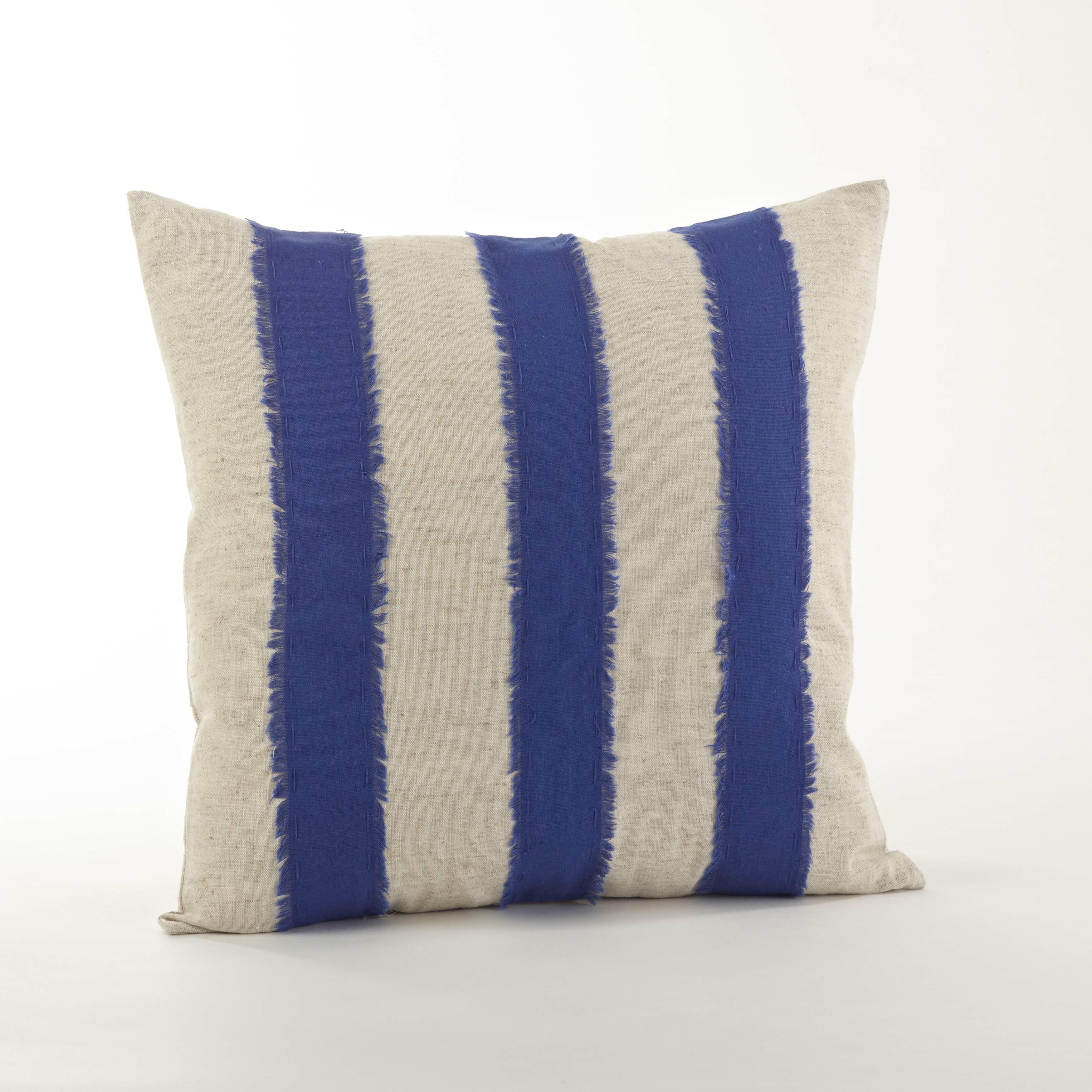 Palatka Banded Cotton Throw Pillow Reviews Birch Lane