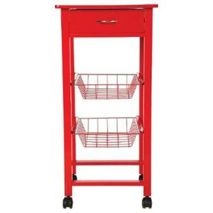 Kitchen Trolley Small Red By Ebern Designs
