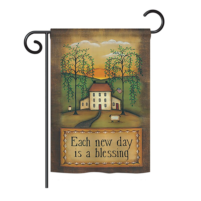 Breeze Decor Each New Day Inspirational Sweet Home Impressions Decorative Vertical 13 X 18 5 Double Sided Garden Flag Set Wayfair