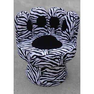 Zoomie Kids Hovis Paw Swivel Lounge Chair