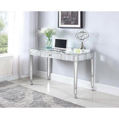 Allie Mirrored Writing Desk Wayfair