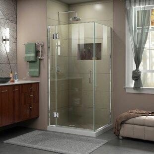 DreamLine Unidoor-X 35 3/8 in. W x 34 in. D x 72 in. H Frameless Hinged Shower Enclosure