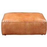 Mori Leather Ottoman by Williston Forge