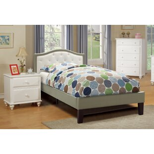 Look for Baley PU Upholstered Twin Bed Frame ByHarriet Bee