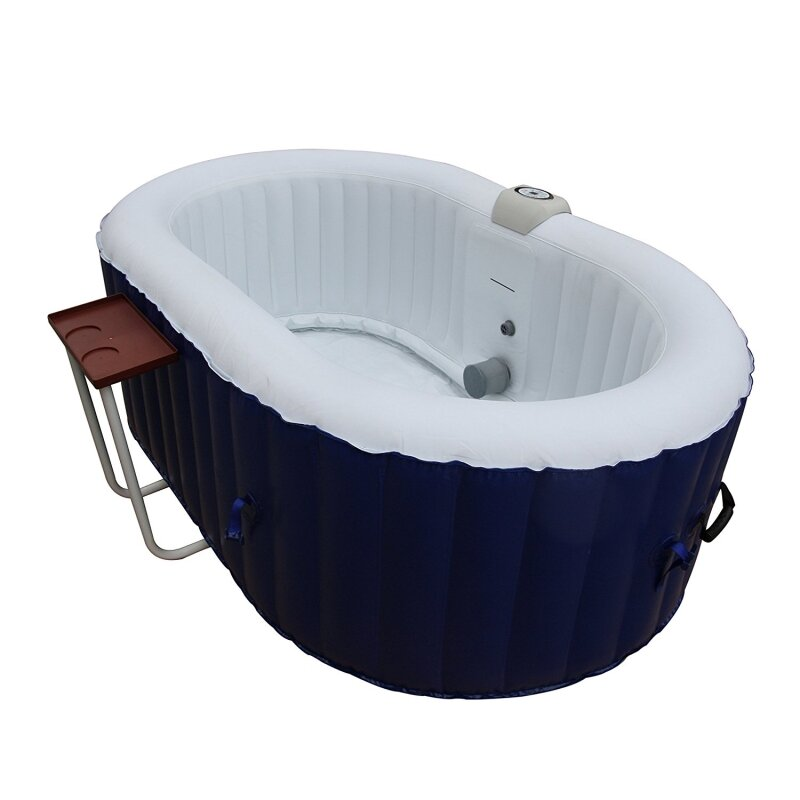 ALEKO Oval Hot Tub 2-Person Inflatable Plug and Play Spa with Drink ...