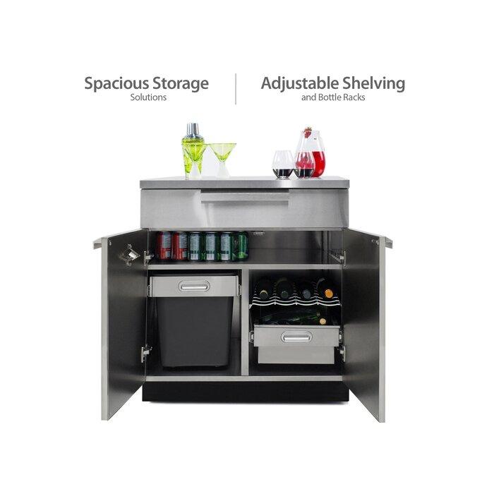 Aluminum 4-Piece Modular Outdoor Kitchen Cabinets