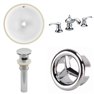 Comparison CUPC Ceramic Circular Undermount Bathroom Sink with Faucet and Overflow By American Imaginations