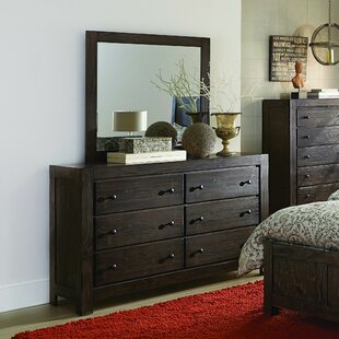 Top Reviews Pelaez 6 Drawer Double Dresser with Mirror by Gracie Oaks